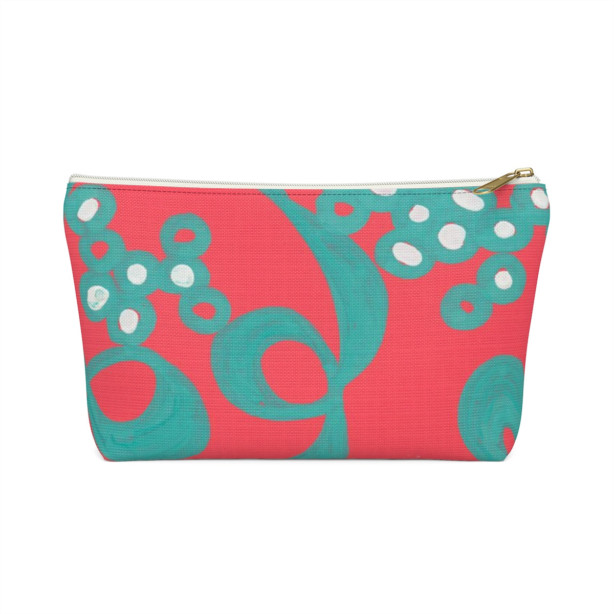 Red Bubble Accessory Pouch w T-bottom