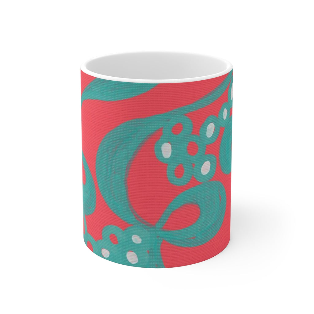 Red Bubble Ceramic Mug