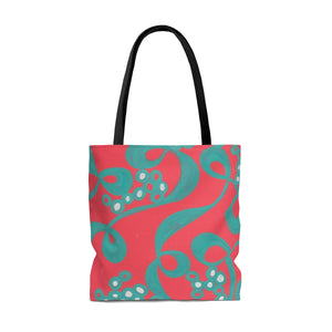 Red Bubble Tote Bag
