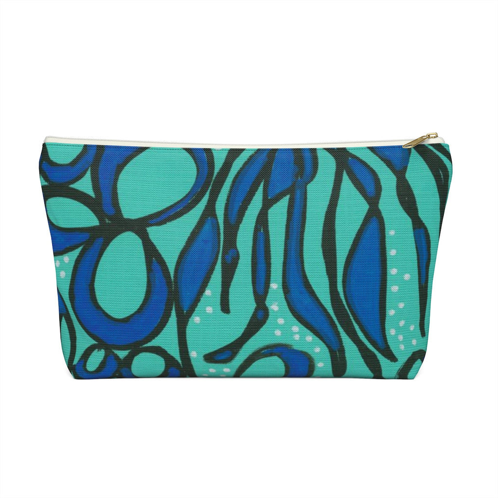Blue Seaweed Accessory Pouch w T-bottom