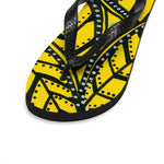 Yellow Palm Tree Flip-Flops