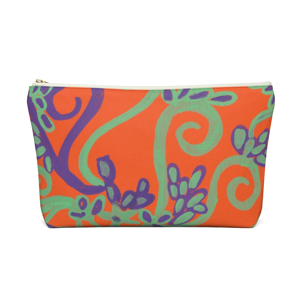 Orange You Glad Accessory Pouch w T-bottom