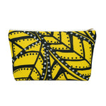 Yellow Palm Accessory Pouch w T-bottom