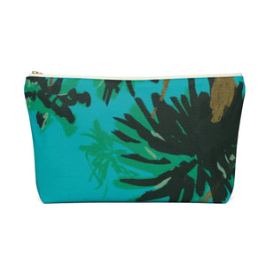 Palm Tree Accessory Pouch w T-bottom