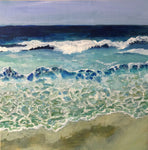 JESSICA HIGGINS JONES ART PAINTING ACRYLIC LANDSCAPE BEACH OCEAN