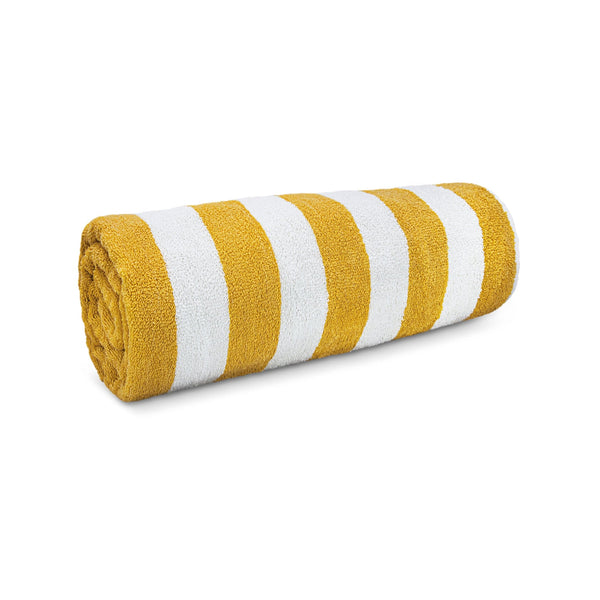 Yellow Stripe Pool Beach Towel