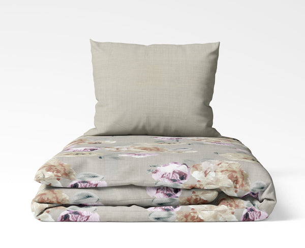 La'Marvel Luxury Printed Ensembles Duvet Cover Set Reversible Floral