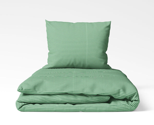 La'Marvel Luxury Printed Ensembles Duvet Cover Set Green checks