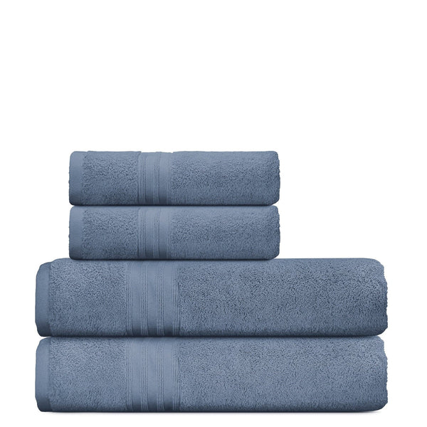 4 Pieces Bath & Hand Luxury Plush Towel Set