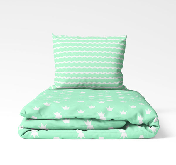 La'Marvel Luxury Printed Ensembles Duvet Cover Set Crown Zig-Zag Reversible