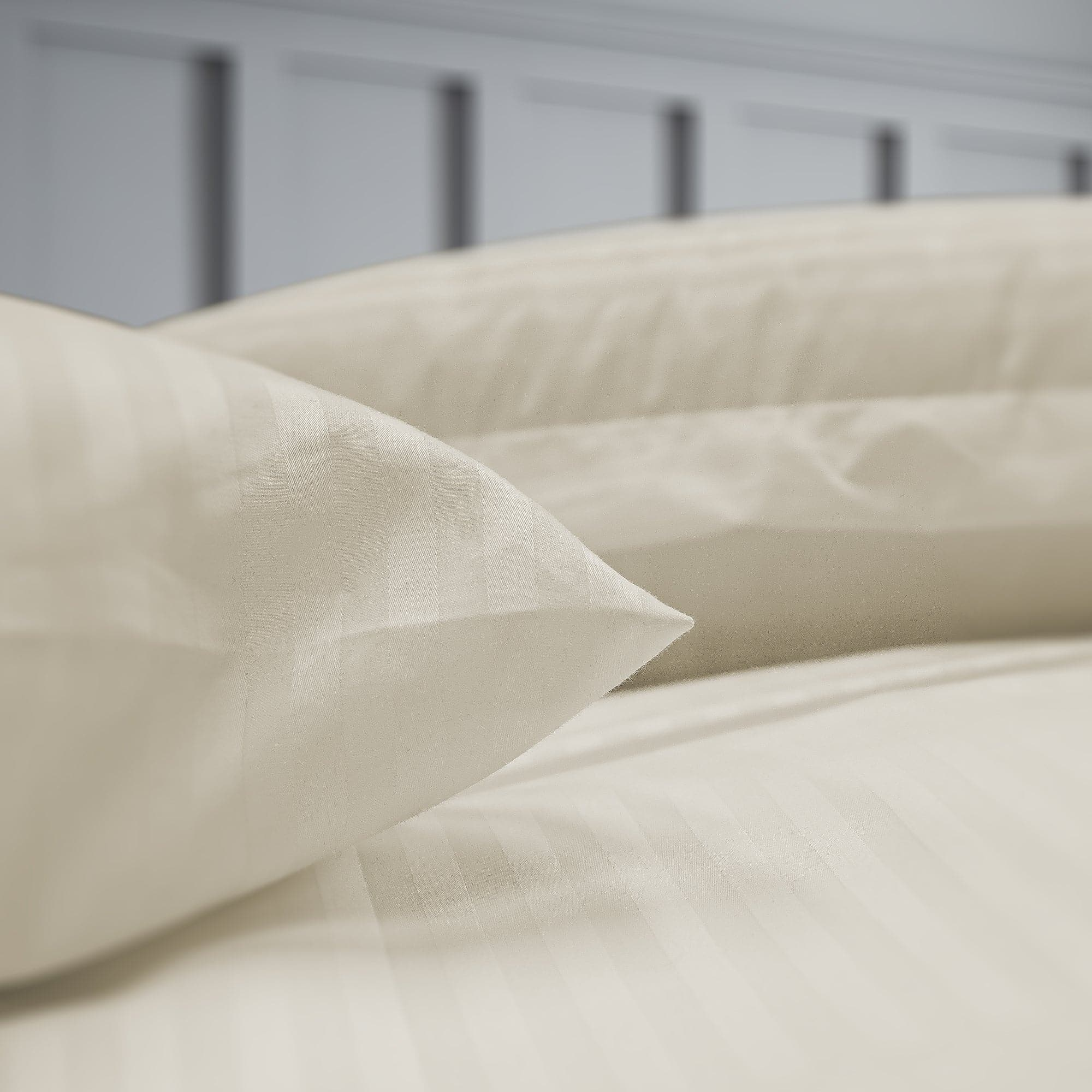 1CM Hotel Stripes 100% Cotton Sateen Fitted Sheet Set in 300 Thread Counts