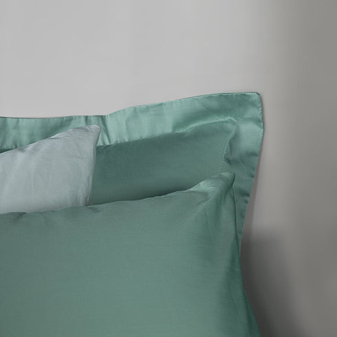 6 Pieces Hotel Style Solid Colors 100% Cotton Sateen Fitted Sheet with Duvet Cover Bedding Set in 300 Thread Counts