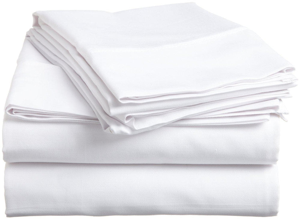 Cotton Sateen Plain White Color Pillowcases Pack - La'Marvel