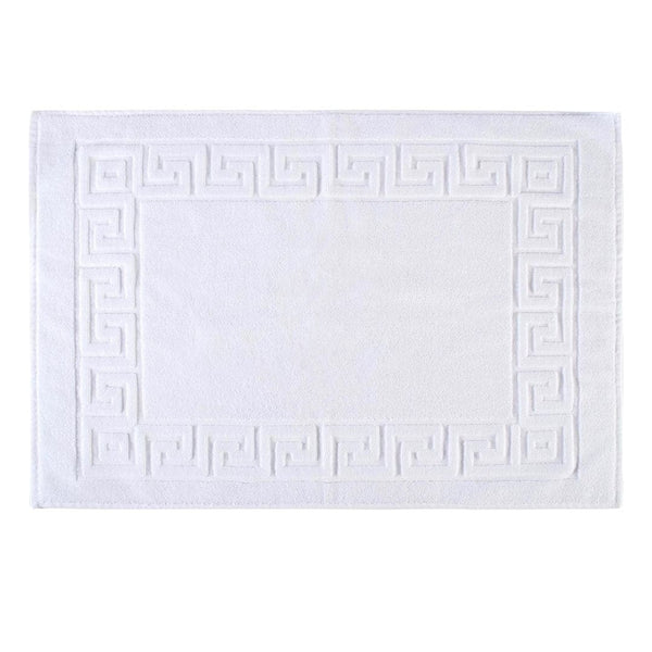 Greek Design White Floor Mat