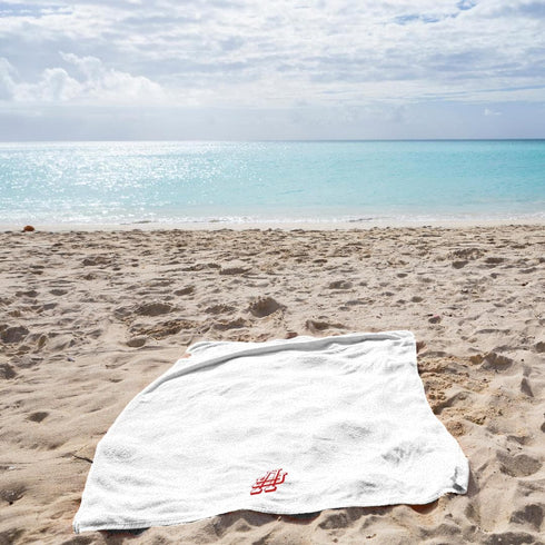 La'Marvel Pool Beach Towel White