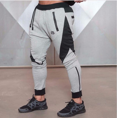Men's Athletic Joggers-The Nirvana Collection-Grey/Black-M-The Nirvana Collection