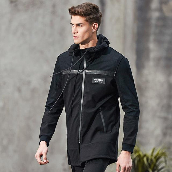 Men's Pioneer Windbreaker-The Nirvana Collection-Black-M-The Nirvana Collection
