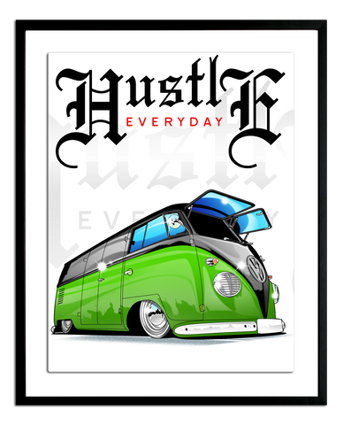 Hustle Bus Poster