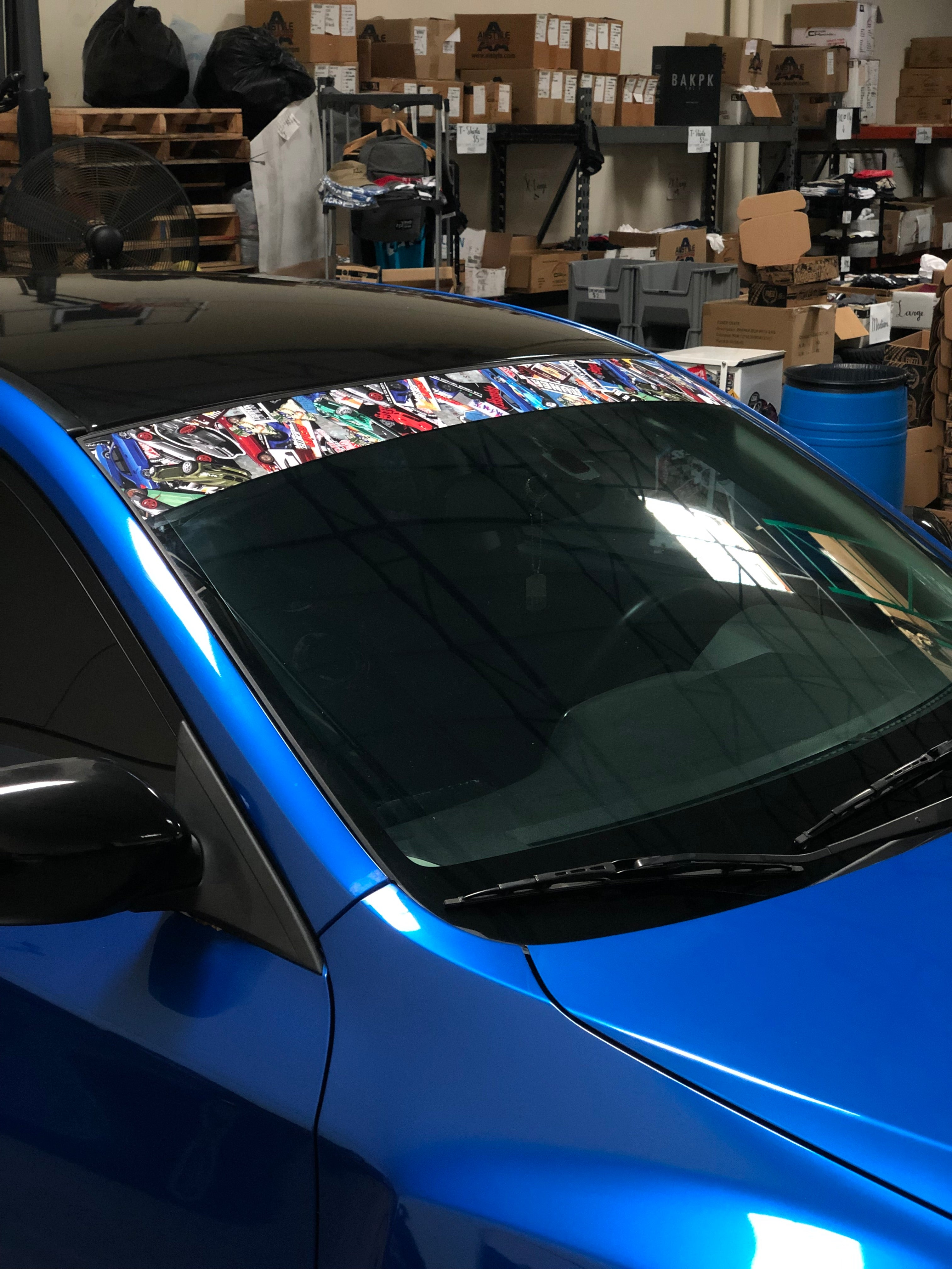 Sticker Bomb Windshield Banner