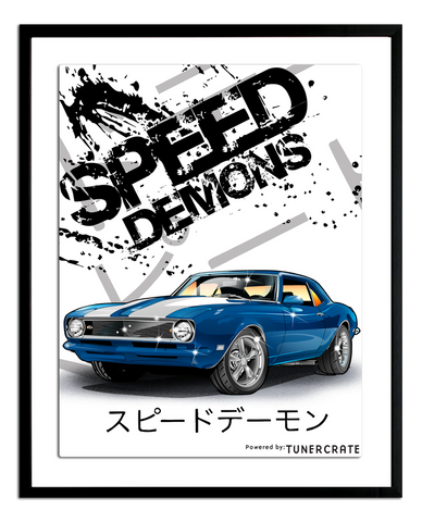 Speed Demons Camaro Poster