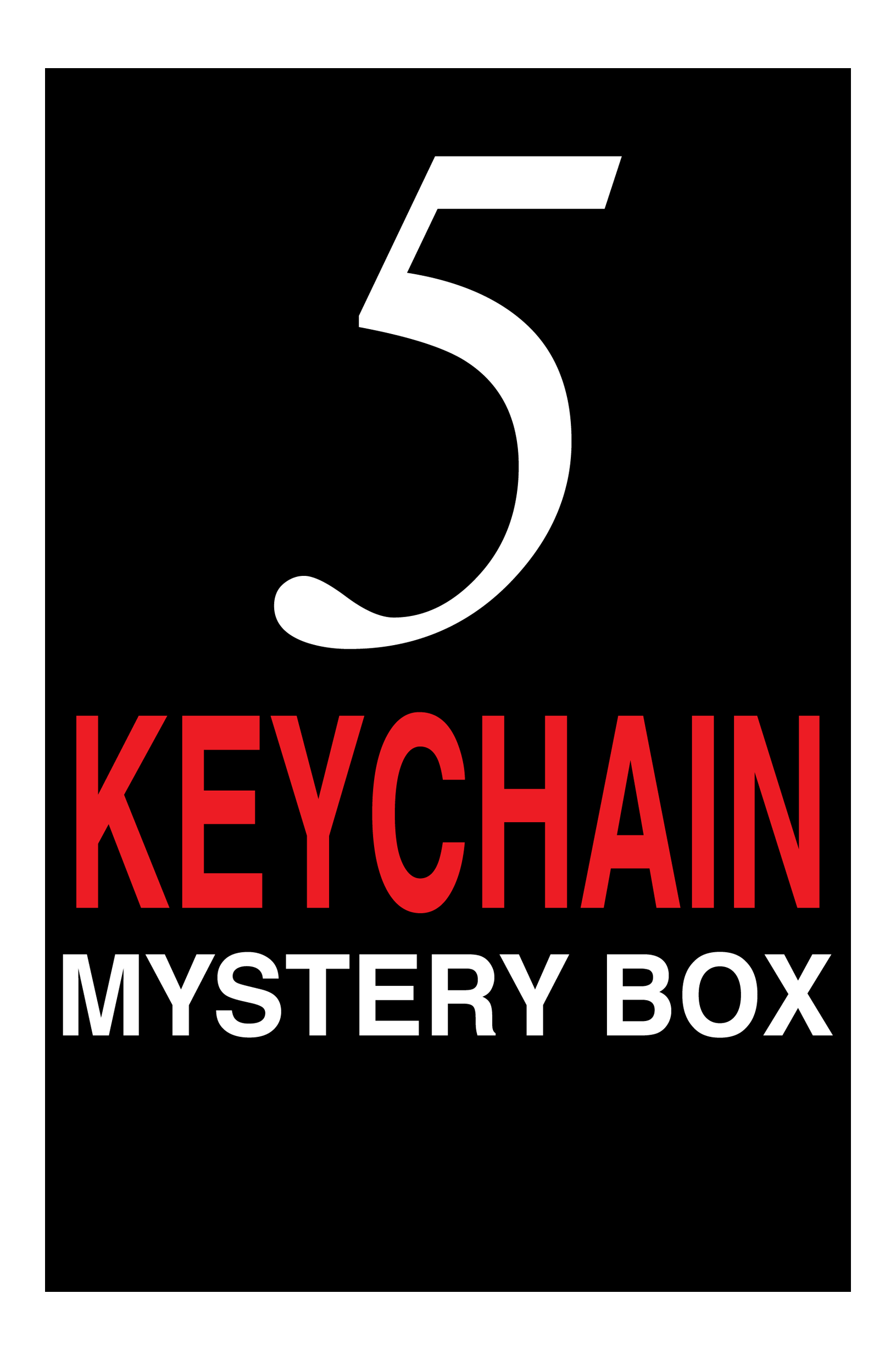 5 Keychain Mystery Pack - Warehouse Sale