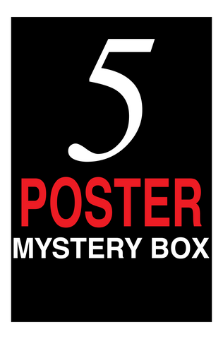 5 Poster Mystery Pack - Warehouse Sale