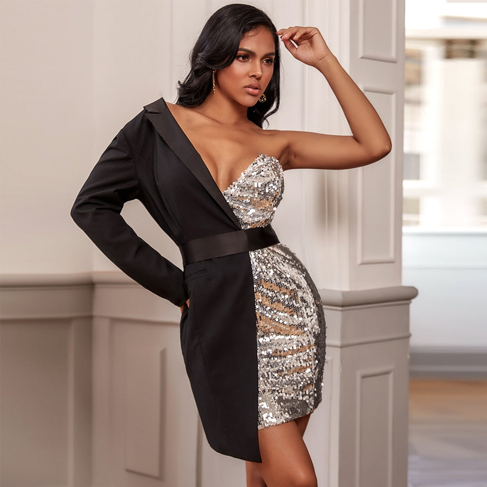 Dance the Night Away Blazer Sequin Club Dress - NuRivals.com,  Dance the Night Away Blazer Sequin Club Dress, , Nu Rivals, Nu Rivals