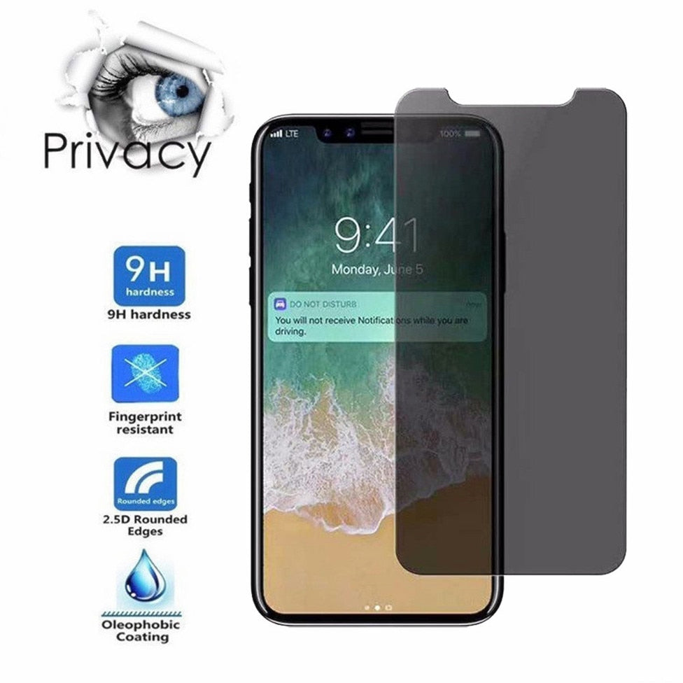 New Privacy Anti Glare Tempered Glass Protector for iPhone X - Dashing Beauty,  New Privacy Anti Glare Tempered Glass Protector for iPhone X, , NU Rivals, Dashing Beauty