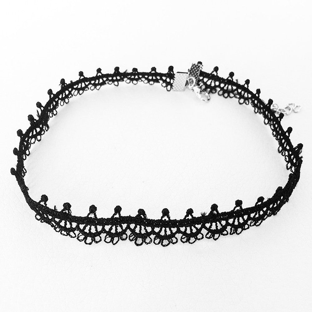 Vintage Black Lace Sunflower Choker - Dashing Beauty,  Vintage Black Lace Sunflower Choker, , NU Rivals, Dashing Beauty