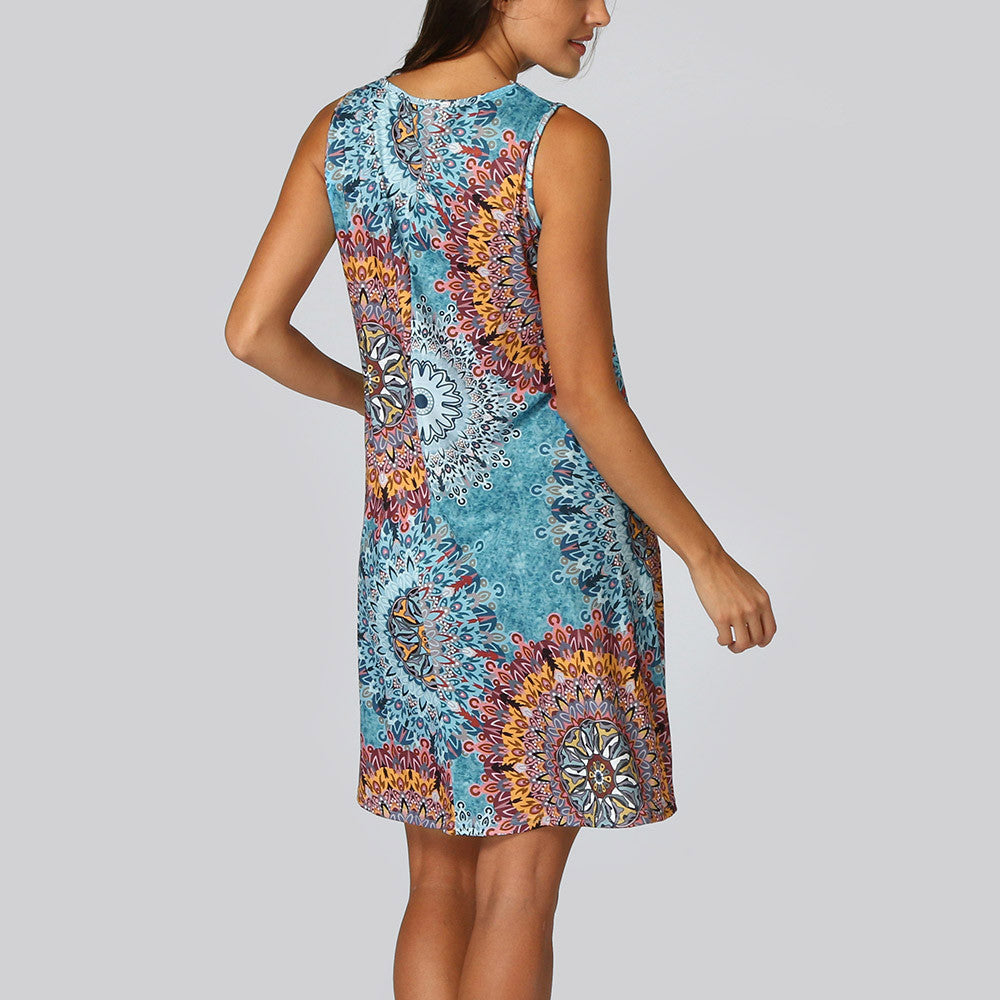 Sleeveless Floral Print Dress - NuRivals.com,  Sleeveless Floral Print Dress, , NU Rivals, NU Rivals