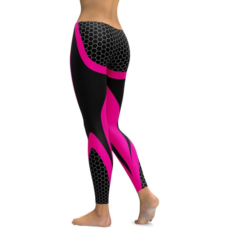 """Intimated"" Workout Leggings - Dashing Beauty,  ""Intimated"" Workout Leggings, , NU Rivals, Dashing Beauty"