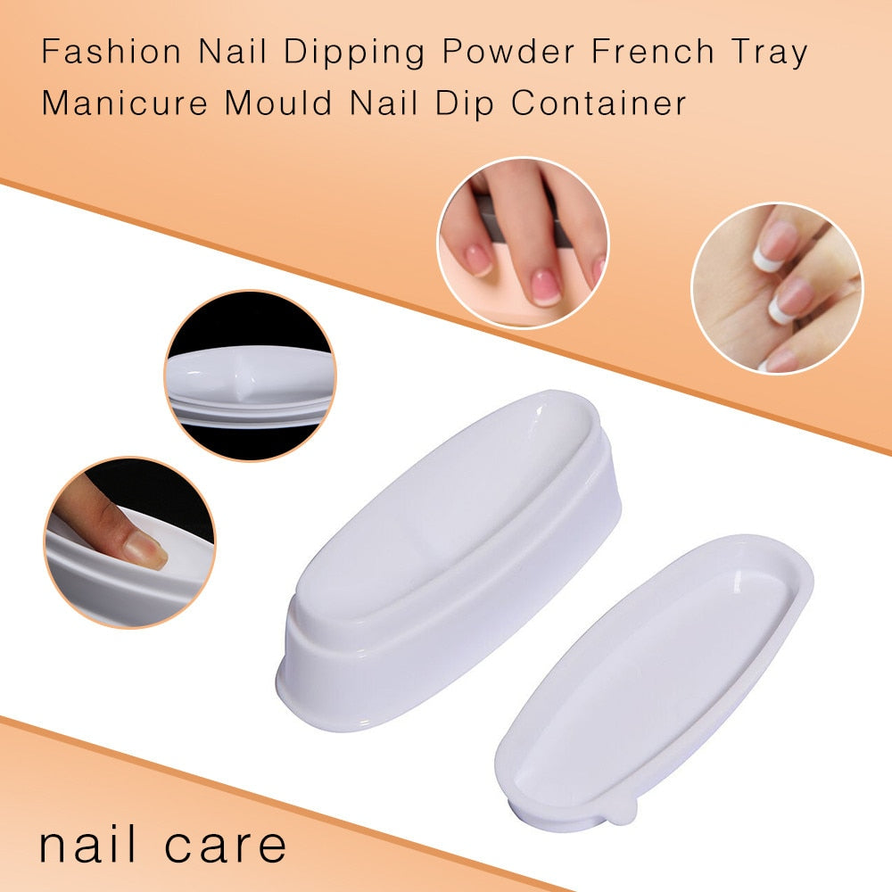 Fashion Nail Dipping Powder French Tray Manicure Mould Nail Dip Container - NuRivals.com,  Fashion Nail Dipping Powder French Tray Manicure Mould Nail Dip Container, , NU Rivals, Nu Rivals
