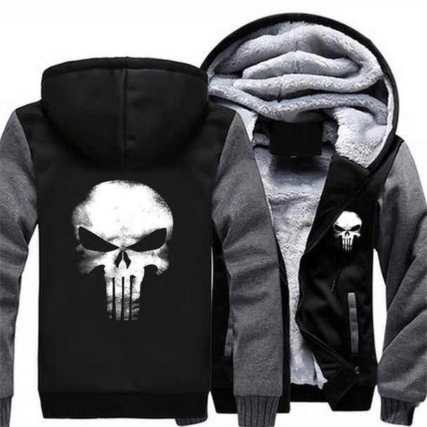 Men Women Punisher Skull Hoodie Fleece - NuRivals.com,  Men Women Punisher Skull Hoodie Fleece, , NU Rivals, NU Rivals