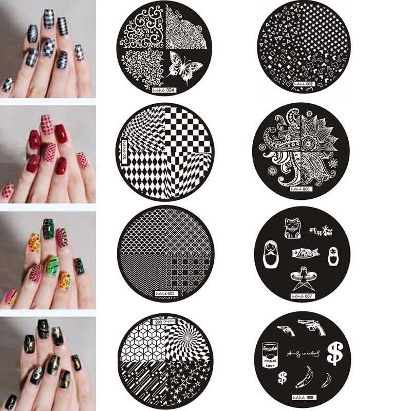 irl Pattern Nail Art Image Stamp Stamping Plates Manicure Template Stencils for nails - Dashing Beauty,  irl Pattern Nail Art Image Stamp Stamping Plates Manicure Template Stencils for nails, , NU Rivals, Dashing Beauty