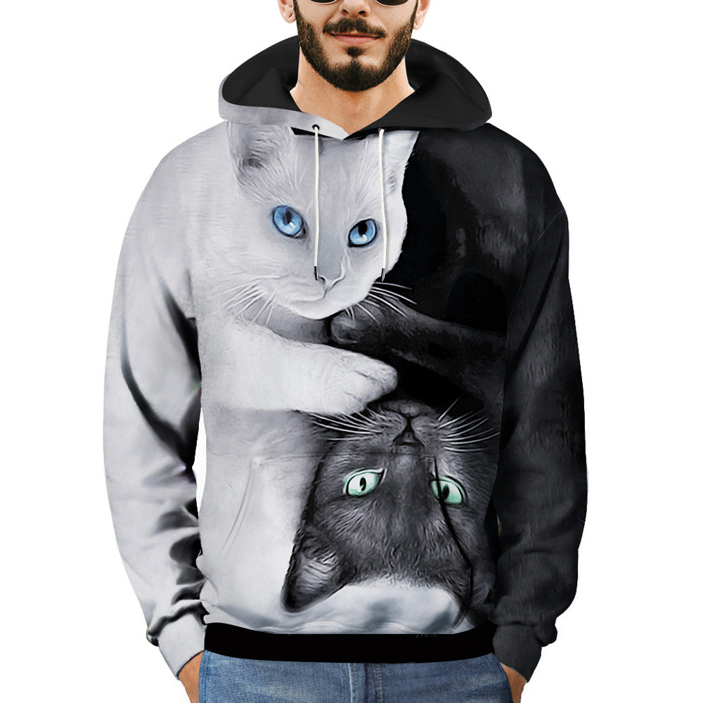 Sportswear Sweatshirt 3D Printed Cat Pullover - Dashing Beauty,  Sportswear Sweatshirt 3D Printed Cat Pullover, , NU Rivals, NU Rivals