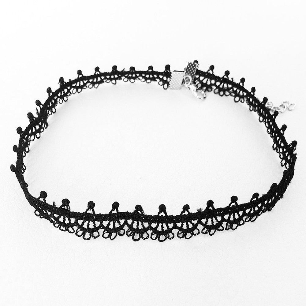 Vintage Black Lace Choker - Dashing Beauty,  Vintage Black Lace Choker, , NU Rivals, Dashing Beauty