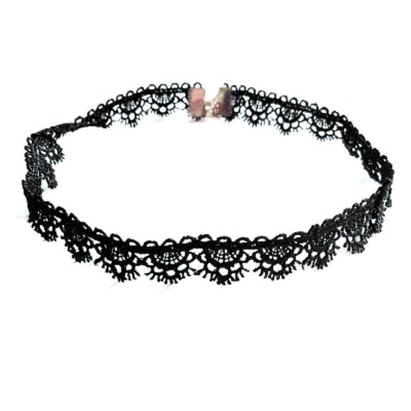 Elegant Black Lace Choker Collar - Dashing Beauty,  Elegant Black Lace Choker Collar, , NU Rivals, Dashing Beauty