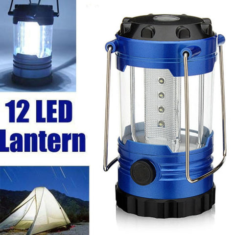 BEST BUY! 12-LED Portable Camping Hiking Blue Lamp Light Lantern Outdoor Emergency Light with Compass - UpTechMart