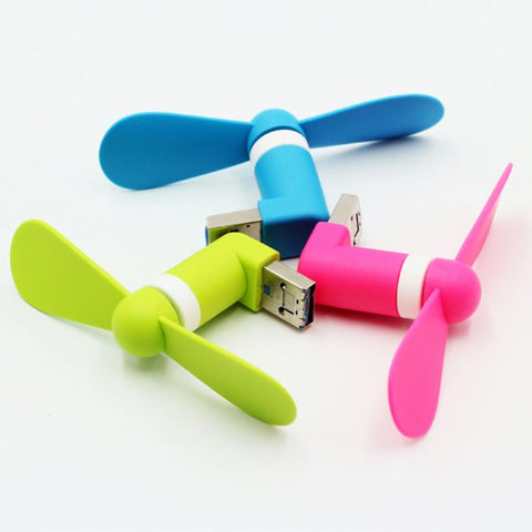 Mini Mobile Phone USB Portable Fan for Power Bank Android OTG Smartphone - UpTechMart