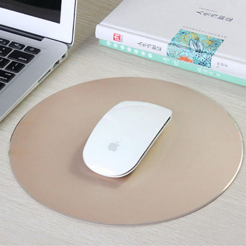 GREAT GIFT! 220 x 220mm Aluminum Metal Anti Slip PC Computer Laptop Gaming Mouse Pad - UpTechMart