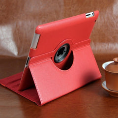 RICH! Rotating Magnetic Leather Stand Case For IPAD2 IPAD3 IPAD4 Cover