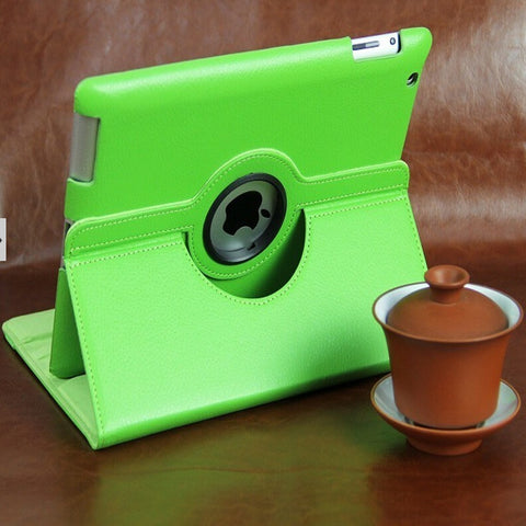 RICH! Rotating Magnetic Leather Stand Case For IPAD2 IPAD3 IPAD4 Cover - UpTechMart