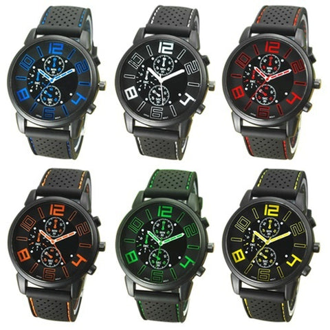 1PC NEW 2017 Quartz Military Watch Sports Wristwatch Silicone Band - UpTechMart