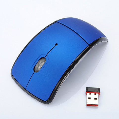 Optical 2.4G Foldable Wireless Mouse Cordless Mice USB Folding Mouse Receiver - UpTechMart