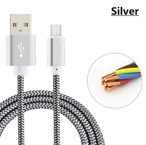 GREAT Utility! Nylon Mini USB Charger Cable  Micro USB Cable iPhone Android - UpTechMart