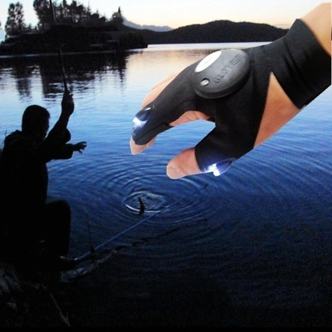 GREAT PRODUCT! Night Fishing Glove with LED Light Rescue Tools Outdoor Gear - UpTechMart