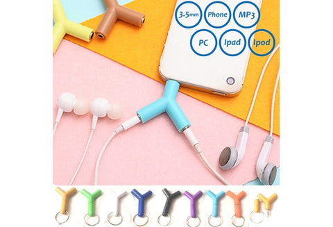 UNIQUE 3.5mm Y Shaped Earphones Sharing Plug For Couples/Family/Friends - UpTechMart