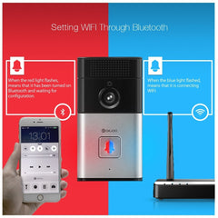 VIDEO DOORBELL! 720P HD WIFI Wireless Video Camera Viewer Night Vision Door Phone Ring Bell  BEST, Smart Home Security System