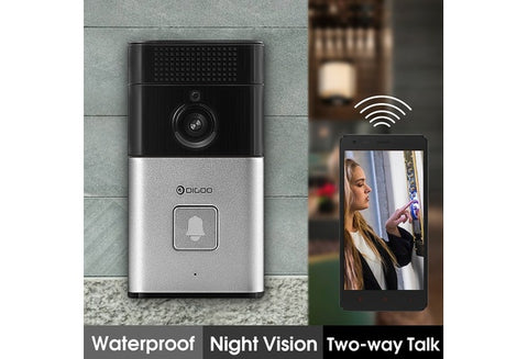 VIDEO DOORBELL! 720P HD WIFI Wireless Video Camera Viewer Night Vision Door Phone Ring Bell  BEST, Smart Home Security System - UpTechMart