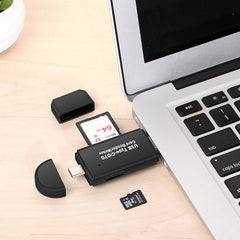 High Speed USB 2.0 Micro  OTG Adapter SD T-Flash Memory Card Reader for Phone PC - UpTechMart